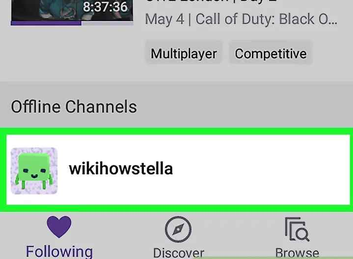 twitch unfollow on mobile - step-2
