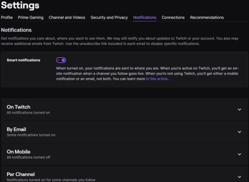 twitch notification settings